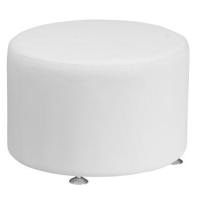 Krysten Round Ottoman Upholstery: White