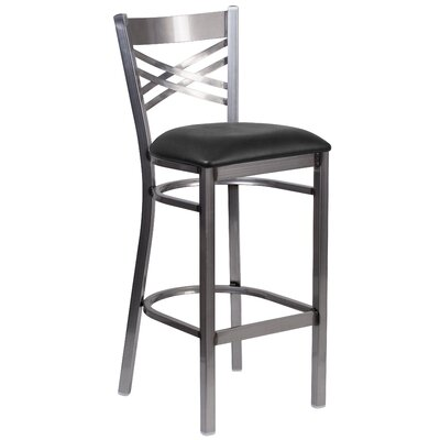Socorro 31 Black Bar Stool Upholstery: Black