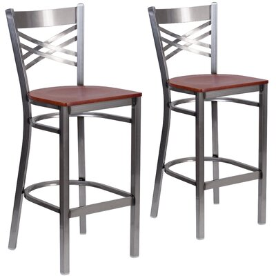 Socorro 29 Bar Stool Finish: Cherry
