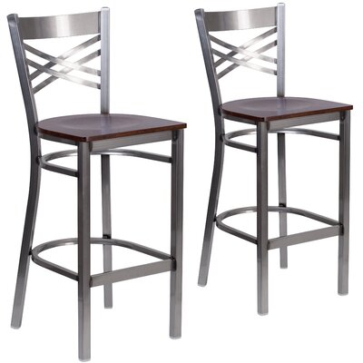 Socorro 29 Bar Stool Finish: Walnut