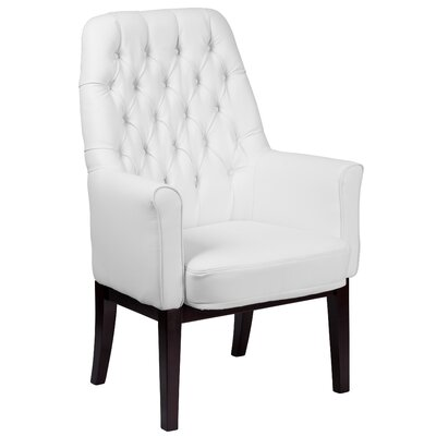 Broadwell Traditional Tufted Armchair Upholstery: White