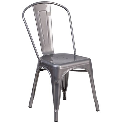 Roberto Clear Coated Metal Side Chair