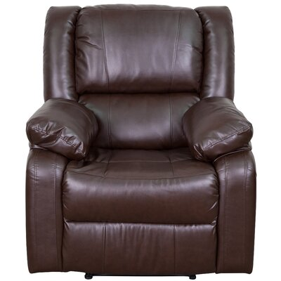 Harmony Series Recliner Upholstery: Brown