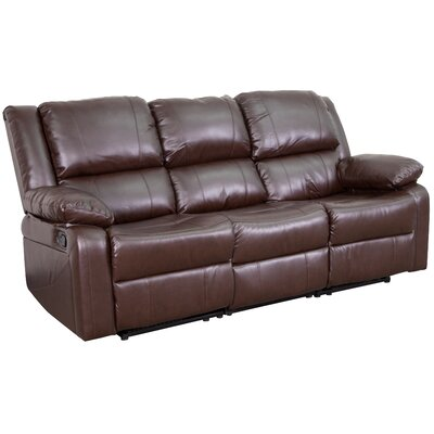 Harmony Series Reclining Sofa Upholstery: Brown