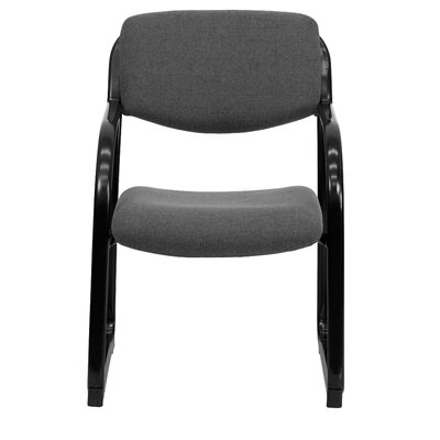 Side Chair with Steel Frame Fabric: Gray