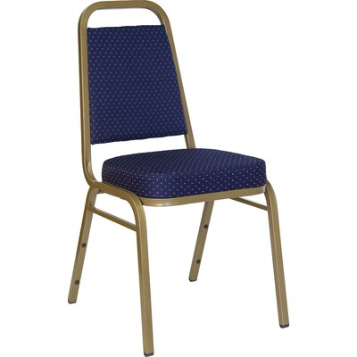 Hercules Series Guest Chair Seat Finish: Navy Patterned Fabric