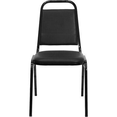 Cedarvale Armless Stacking Banquet Chair Quantity: Set of 10, Frame Finish: Black, Seat Color: Black