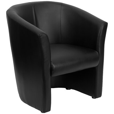 Ekta Leather Lounge Chair Leather Color: Black