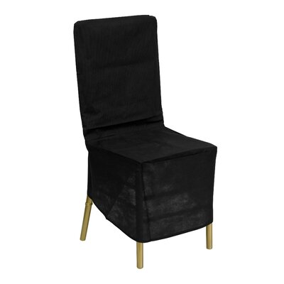 Fabric Chiavari Chair Storage Cover in Black