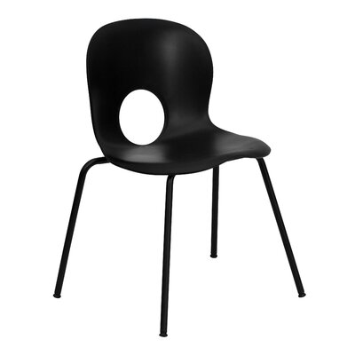 Low Price FlashFurniture Hercules Series Stacking Side Chair Finish: Black, Quantity: Set of 20