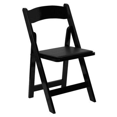 FlashFurniture Hercules Series Wood Folding Chair (Set of 24) - Wood Finish / Vinyl Seat: Black / Black, Quantity: Set of 40 at Sears.com