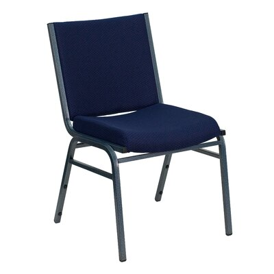 Dillman Heavy Duty 3 Thickly Padded Stack Chair Seat Finish: Navy Patterned Fabric, Quantity: Set of 10, Arms: No