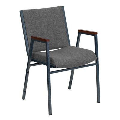 Dillman Heavy Duty 3 Thickly Padded Stack Chair Seat Finish: Gray Fabric, Quantity: Set of 16, Arms: Yes