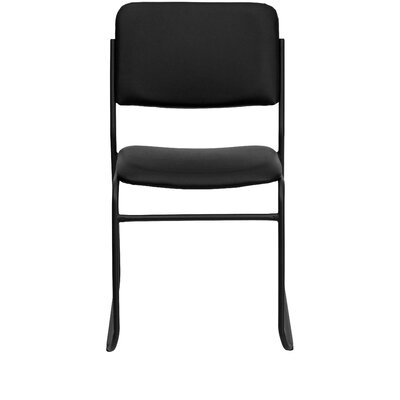 Flash Furniture Hercules Series Personalized Stackable Guest Chair XU-8700-BLK-B-VYL-30-EMB-GG
