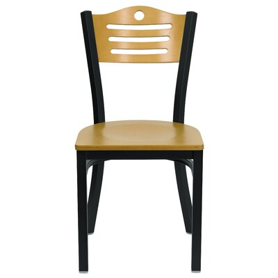 Hercules Series Slat Back Side Chair (Set of 2) Upholstery: Natural Wood