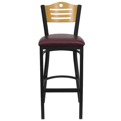 Thornfeldt 33 Bar Stool Upholstery: Burgundy Vinyl