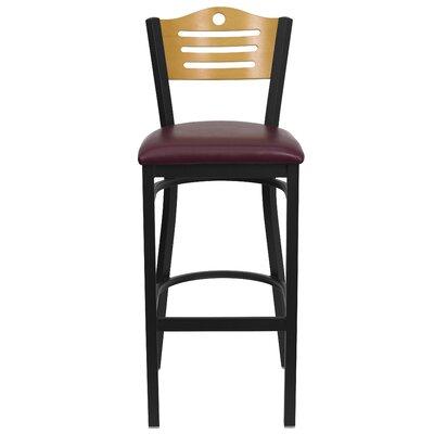 Hercules Series 33 Bar Stool Upholstery: Burgundy Vinyl