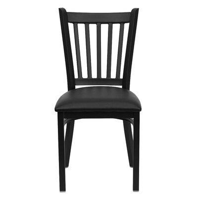 Low Price FlashFurniture Hercules Series Vertical Back Side Chair Seat Finish: Black Vinyl