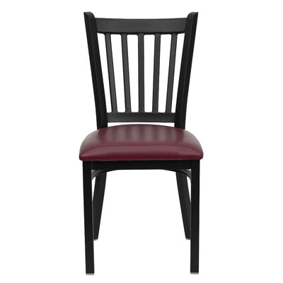 Picture of FlashFurniture Hercules Series Vertical Back Side Chair Seat Finish: Burgundy Vinyl in Large Size