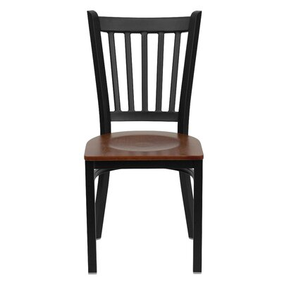 Low Price FlashFurniture Hercules Series Vertical Back Side Chair Seat Finish: Cherry Wood