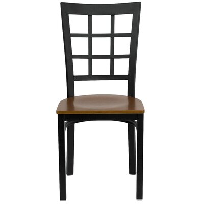 Low Price FlashFurniture Hercules Series Window Back Side Chair Seat Finish: Cherry Wood