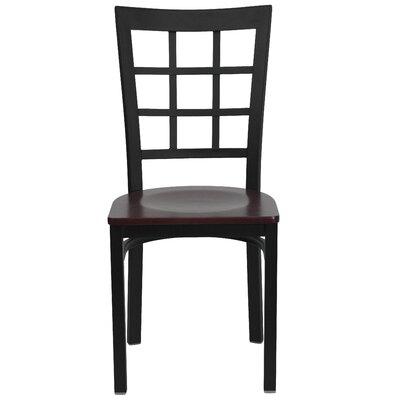 Low Price FlashFurniture Hercules Series Window Back Side Chair Seat Finish: Mahogany Wood