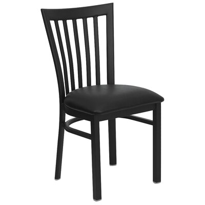 Hercules Series School House Side Chair (Set of 2) Upholstery: Black Vinyl