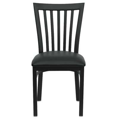 Lyman Series School House Side Chair (Set of 2) Upholstery: Black Vinyl