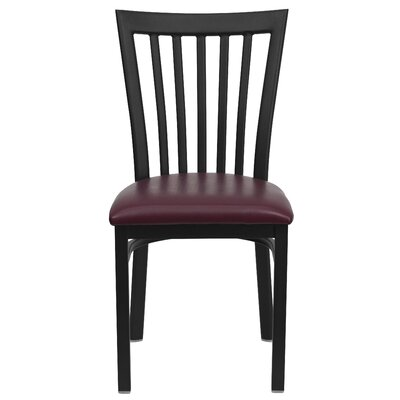 Lyman Series School House Side Chair (Set of 2) Upholstery: Burgundy Vinyl