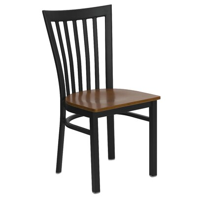 Hercules Series School House Side Chair (Set of 2) Upholstery: Cherry Wood