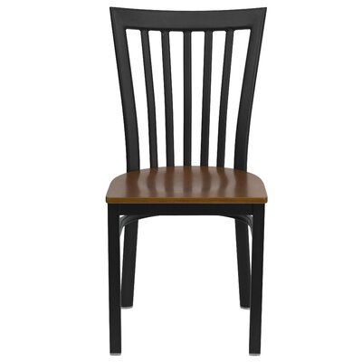 Low Price FlashFurniture Hercules Series School House Side Chair Seat Finish: Cherry Wood