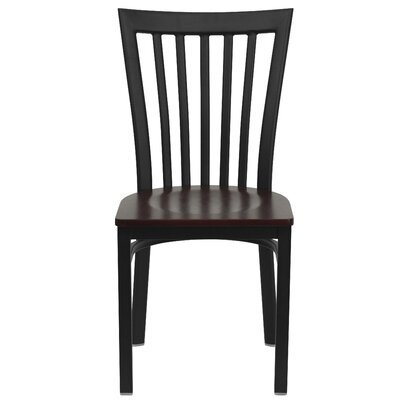Lyman Series School House Side Chair (Set of 2) Upholstery: Mahogany Wood