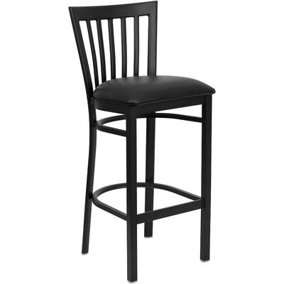Lyman Series 29 Bar Stool Upholstery: Black Vinyl