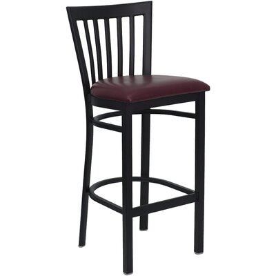 Lyman Series 29 Bar Stool Upholstery: Burgundy Vinyl