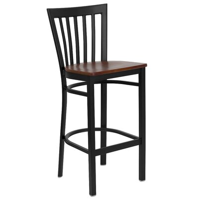 Lyman Series 29 Bar Stool Upholstery: Cherry Wood