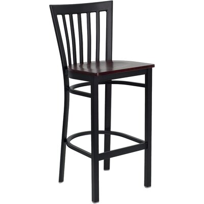 Hercules Series 29 Bar Stool Upholstery: Mahogany Wood