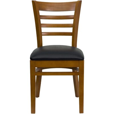 Picture of FlashFurniture Hercules Series Ladder Back Side Chair Finish: Cherry, Seat Finish: Cherry Wood in Large Size