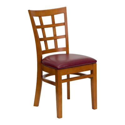Hercules Dining Chair Upholstery: Burgundy Vinyl, Quantity: Set of 12