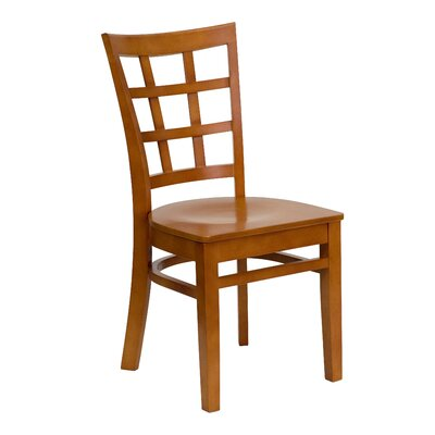 Hercules Dining Chair Upholstery: Cherry Wood, Quantity: Set of 4