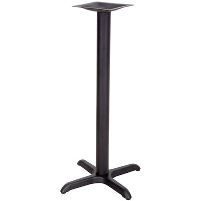 Restaurant Table X-Base with Bar Height Column Size: 22 x 22