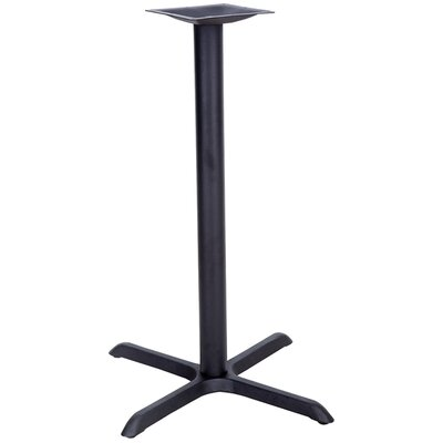 Restaurant Table X-Base with Bar Height Column Size: 22 x 30