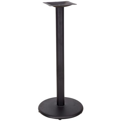 Round Restaurant Table Base with Bar Height Column Size: 18