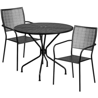 3 Piece Bistro Set Color: Black