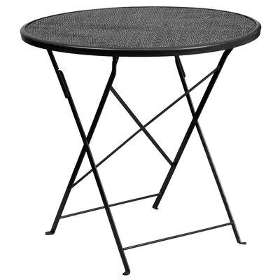 Folding Bistro Table Color: Black