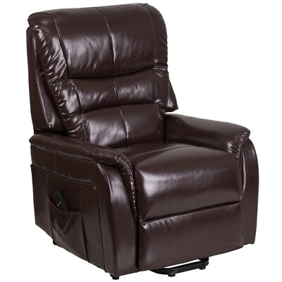 Jaliyiah Modern Remote Powered Recliner Lift Assist Upholstery: Brown