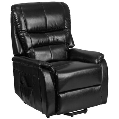 Jaliyiah Modern Remote Powered Recliner Lift Assist Upholstery: Black