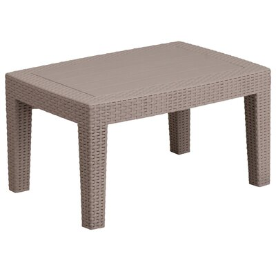 Stockwell Faux Rattan Side Table