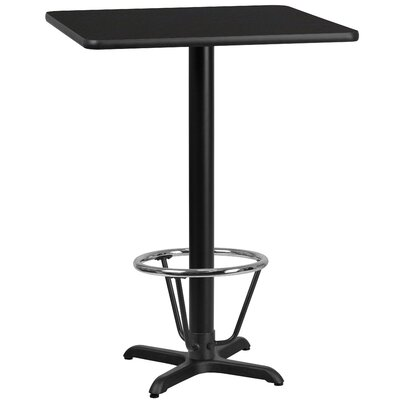 Basler Laminate Dining Table Size: 43.125 H x 30 W x 30 D, Top Color: Black