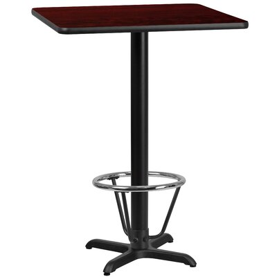 Basler Laminate Dining Table Size: 43.125 H x 42 W x 42 D, Top Color: Mahogany