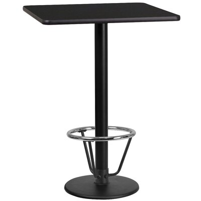 Basil Laminate Dining Table Size: 43.125 H x 24 W x 24 D, Top Color: Black